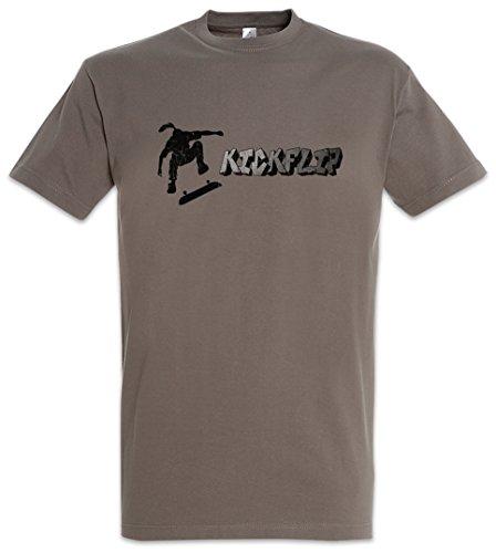 KICKFLIP T-SHIRT - SK8 Skater Bones Skate Or Die Skateboard Game Brigade Shirt