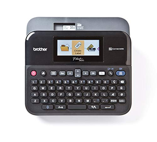 Brother PT-D600VP Label Maker, USB 2.0, P-Touch Label Printer,...
