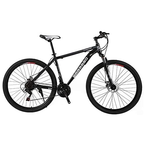 Bicicleta De Montaña para Hombre De 21 Velocidades Freno De Disco Doble 29 Pulgadas Bicicletas Urbanas Todoterreno Solo para Adultos Ciclismo Al Aire Libre Cola Dura Suspensión Delantera,D