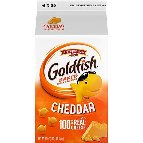 Pepperidge Farm Goldfish Crackers, Cheddar, 30 Oz Carton
