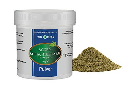 VITA IDEAL ® Ackerschachtelhalm 300g reines Pulver (Zinnkraut, Equisetum arvense, field horsetail) + Messlöffel