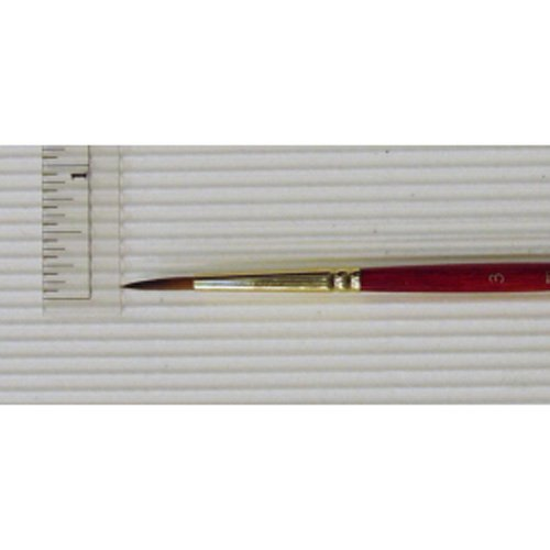 Princeton Series 4050 Synthetic Sable Watercolor Brushes 3 short handle round -  4050R-3
