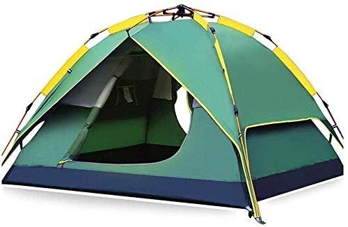 YAYY Outdoor Camping Tent Automatische Camping Pop-up Tent voor 3-4 Persoon Versie Hydraulische Tent Dubbele Laag Waterdichte Dome Tent met Draagtas - 200×180×135cm(Upgrade)