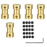 5 Piezas Adaptador de Conector de Acoplador de Eje, Acopladores de Eje Adaptador de Conector, Adaptador de Transmisión de Latón, para Metal, Moldes, Barcos en Miniatura, Robots