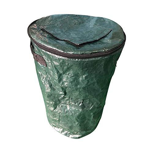 jkhj Collapsible Compost Bins Garden, Environmental Compost Bag, PE Compost Bag, Sealable Probiotic Fermentation Bag, Suitable For Garden Deciduous, Kitchen Waste (Large)