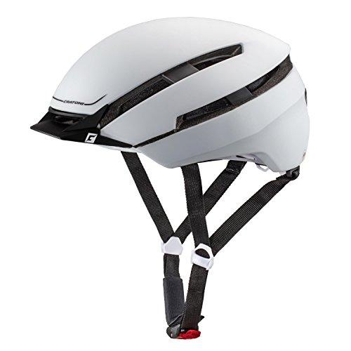Cratoni C-Loom Fahrradhelm, White/Black Rubber, S-M