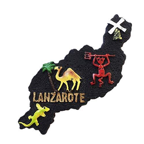 Imán de nevera 3D de Lanzarote España para regalo turístico, decoración para el hogar y la cocina, imán de nevera Lanzarote España