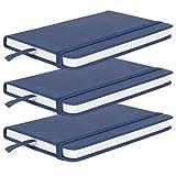 Cuaderno, bloc de notas, cuero artificial de la PU de la protección ocular respetuosa del medio ambiente para escribir el diario(blue)