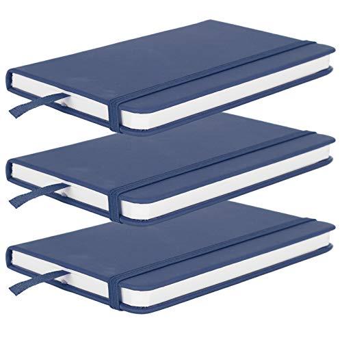 Blocco note con copertina rigida per gli occhi, ecologico, con segnalibri a nastro, per diario di gratitudine per appunti di ufficio per scrivere (blu)
