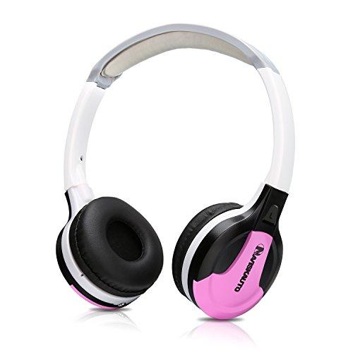 NAVISKAUTO IR Kopfhörer Faltbarer Bügelkopfhörer Stereo Audio System 1,5m Kabel 3,5mm Klinkestecker für Tragbarer DVD Player PC Tablet Y0234