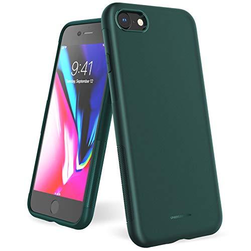 UNBREAKcable Cover iPhone SE 2020, Cover iPhone 8/7 - Custodia iPhone SE 2020/8/7 Ultra Sottile Anti-Graffio e Resistente alle Impronte Digitali Caso della Copertura Protettiva in TPU - Verde Scuro
