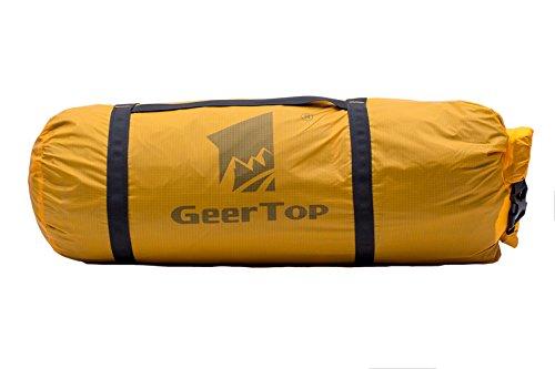 Geertop Sac Marin Sac a Compression Réglable Ultraléger Etanche 20D pour Tente Camping et Sports d'extérieur (Jaune, pour Tente Une Personn)