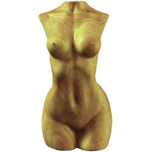 yuiopps Sculpture sur Bois Peint à Main Sculpté Corps de Femme Nue Sexy Figurine Artisanat du Statue pour Ornement à Maison Oeuvre de Collection Cadeaux 9 * 4 * 4CM
