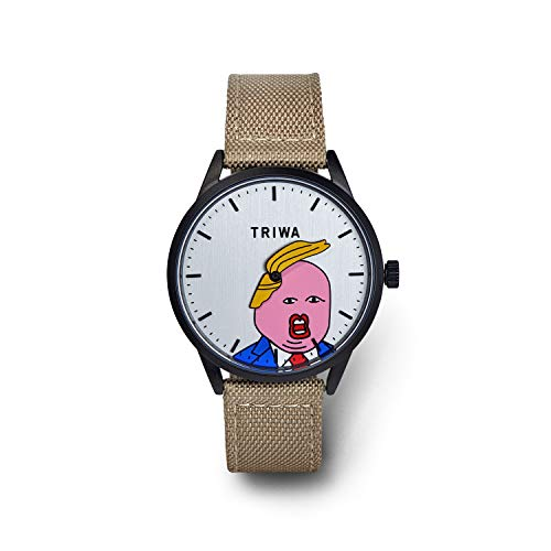 TRIWA Comb Over Donald Trump Wrist Watch – Funny Political Gifts Watches, 36mm