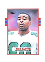1989 Topps #121 Cris Carter Eagles Rookie Card - Mint Condition Ships in New Holder
