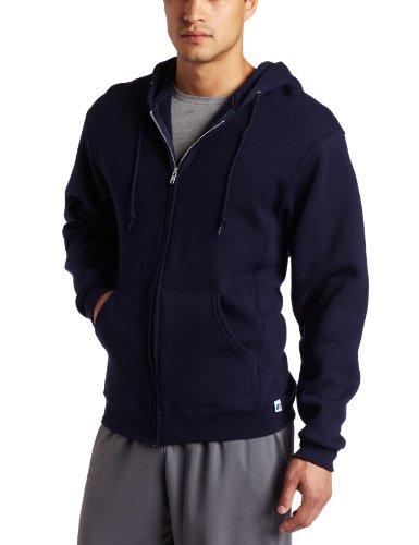 Russell Athletic Men's Dri Power Full Zip Fleece Hoodie, New Navy, Small