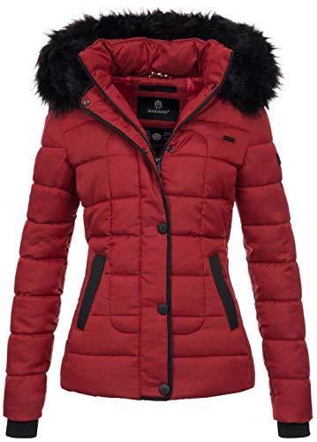Marikoo warme Damen Winter Jacke Steppjacke Winterjacke gesteppt Parka B391 [B391-Unique-Rot-Gr.XS]
