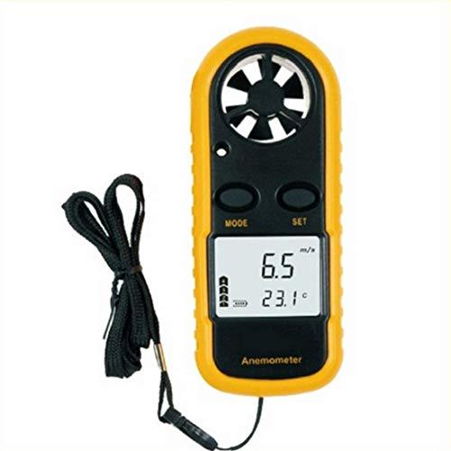 Herramienta Anemómetro Digital Medición de la Velocidad del Viento Medición de la Temperatura Fácil Precisión de Alta precisión Pequeño tamaño portátil LCD Light luz de Fondo (GM816) medición