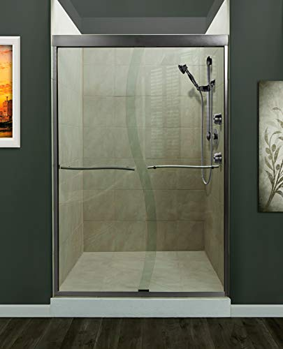Miseno MSDS4872-BN Miseno MSDS4872 Suave 72' High x 48' Wide Framed Shower Door with Clear Glass and H2OFF Technology