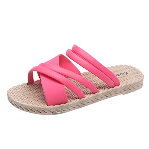 Damen Sommer Summer Beach Atmungsaktive Schuhe Modetrend Koreanische Thin Sleeve Toe Buckle Beach Sandalen