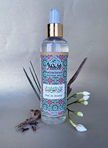 Dukhni Oud Al Awatef Attar Al Faraash 250ml - Alkoholfreier Raumduft und Textil Aroma Diffuser Perfekt für Gebetsteppich, zum Versprühen im Raum und auf Stoffen. 100% Halal und Alkoholfrei