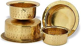Brass Patila Set of 4 Tope Topia Bhaguna Round Patila Capacity 1 Litre to 4 Liter Brass tope Pan & Pot