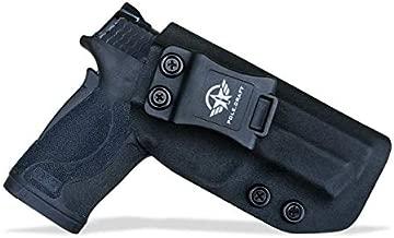 380 EZ Holster IWB Kydex for M&P 380 Shield EZ Concealed Carry - M P 380 EZ Holster - S&W 380 EZ IWB Holster M&P Shield 380 EZ Concealed Holster 380 EZ Pistol Gun Accessories (Black, Right Hand Draw)