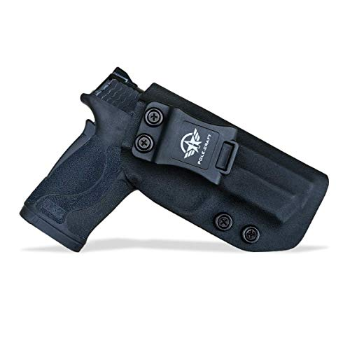 IWB Tactical KYDEX Gun Holster Custom Fits: S&W M&P 380 EZ Pistolet Case Inside Concealed Carry Holster Guns Accessories Etuis (Black, Right Hand Draw (IWB))