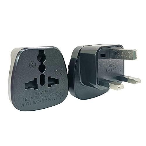 TUQYED Convertidor de Enchufe 3 Pin Reino Unido Enchufe de Viaje de conversor C.A. Adaptador Internacional Socket Power UE EE.UU. AU Universal eléctrico 1 3A 250V 3250W Universal