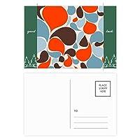 カラフルな水の滴 グッドラック・ポストカードセットのカードを郵送側20個