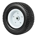 Heavy Load Flat Free Extra Wide Wagon Dolly Cart Tire (11-3/4' Diameter and 4' Width)
