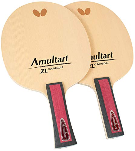 Butterfly Amultart ZL Carbon Table Tennis Blade - Professional Table Tennis Blade - Amultart ZL Carbon Blade - Available in Both FL and SI Handle Styles - Made in Japan