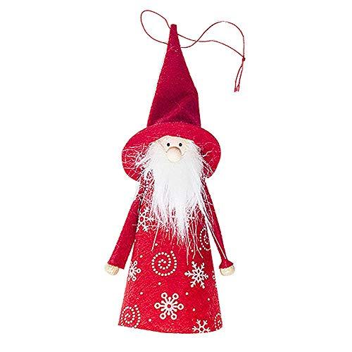 createjia Weihnachten Puppe, Mini Weihnachtsschmuck, Weihnachten Dekoration Puppen für Home Decor Weihnachten Anhänger