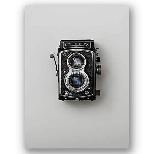 Box Prints Vintage Rolleiflex cámara Retro Foto Arte Lienzo Enmarcado Pared impresión Imagen
