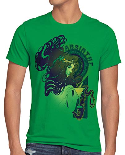 style3 Absinthe T-Shirt Homme Absinth Alcool Bar Party Heure Verte, Taille:3XL