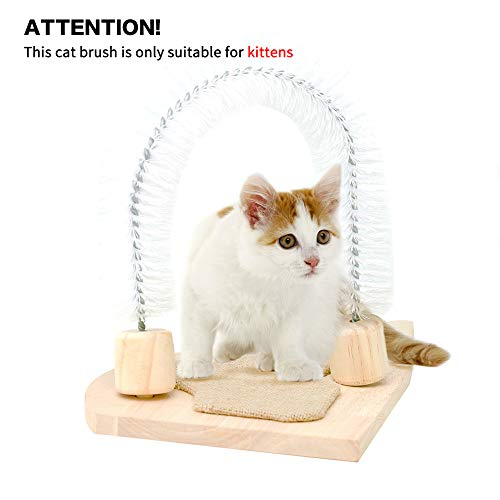 MEWANG Cat Scratcher Grooming Arch Kitten Self Interactive Groomer Toys Pet Scratcher Morden Kitty...