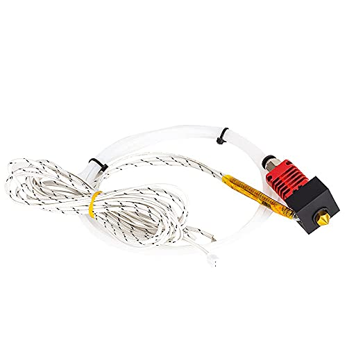 Sonline Hotend Kits MK10 24V 50W Heater Cable 100K Thermistor 3D Printer J-Head Hotend for 1.75mm Filament Extruder 0.4mm Nozzle