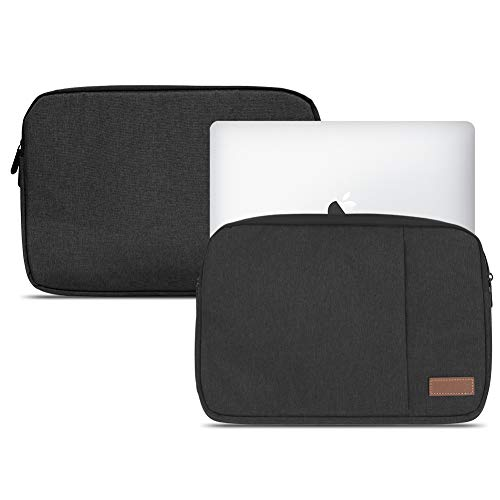 NAUC Notebook Sleeve Hülle Laptop Schutz Tasche Notebooktasche Ultrabook MacBook Grau Schwarz Blau Tablet, Notebook:TrekStor SurfTab Duo W3 W2 W1, Farbe:Schwarz
