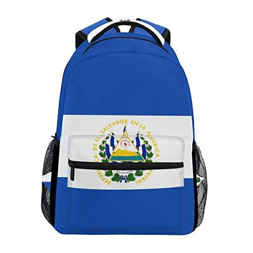 poiuytrew Mochila con Bandera de El Salvador Mochilas de Hombro para Estudiantes Mochila de Viaje Mochilas Escolares