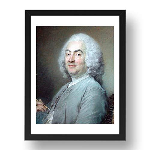 Period Prints Perronneau Jean Baptiste: Laurent Cars, grabador, arte vintage, reproducción A2...