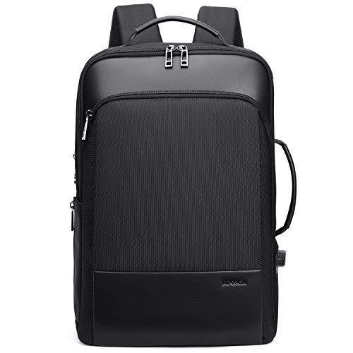 Learn More About KOOSOM Expandable Design Leather Laptop Backpack Men Professional Slim Anti Theft C...