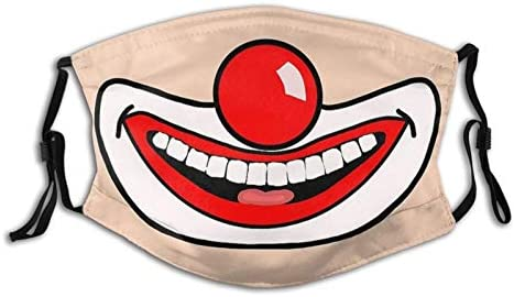 MOMEPE Cute Funny April Fools Day Clown Mouth Face Mask Scarf Breathable Washable Fashion Balaclavas product image