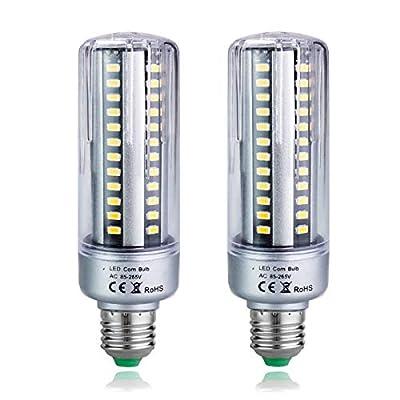 MD Lighting Super Bright 25W E26/E27 LED Corn Light Bulbs(2 Pack)- 96 LEDs 5736SMD 2300lumen Warm White 3000K Equivalent 230 Watt Incandescent Bulb for Commercial Lighting, Non-Dimmable, 85V-265V