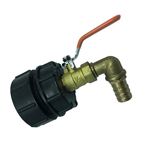 Gazechimp Raccord IBC Tuyau d'Adaptateur Accessoires pour Réservoir d'eau Valve de Rechange de Tonne DN50-90 degrés 20mm