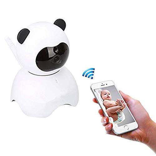 EsiCam Babyphone Caméra Video Surveillance sans fil HD 720P Webcam avec detecteur de mouvement, 2 Voies Audio,PTZ 360 Digital Zoom Vision de Nuit Carte SD P2P Compte Cloud Dog Cat Oiseau Camera