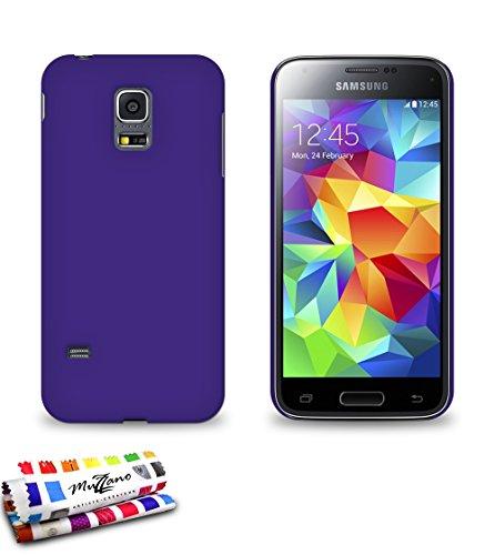 MUZZANO Original Perle Custodia semirigida per Samsung Galaxy S5 Mini, Colore: Viola