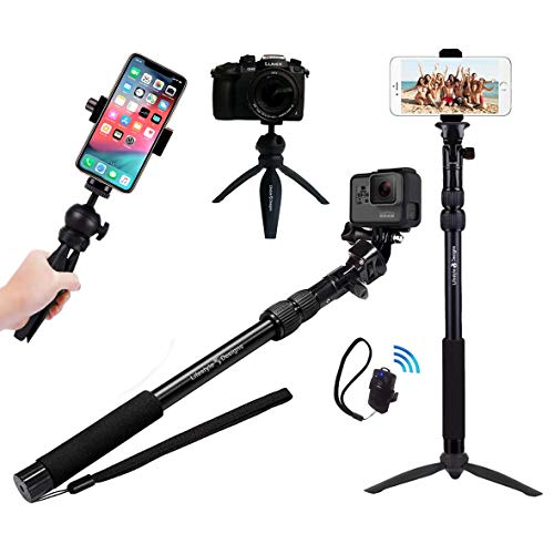 Rugged 4-in-1 Selfie Stick Tripod...