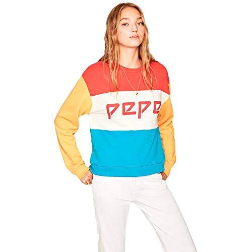 Pepe Jeans - Sudadera PL580963 Primrose 220 Factory Red - Sudadera SIN Capucha para Mujer/Chica (S)