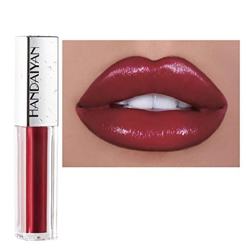 Style_Dress Rouge à LèVres, Levre Pulpeuse Pompe, Baume A Levre Coloré, Eponge Maquillage, Sexy 10 Couleurs Diamond Shining Nude Shimmer Glossy Lipstick