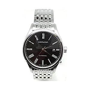Reloj hamilton Valiant H39515134automático acero quandrante negro correa